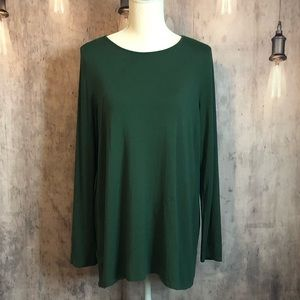 J.Jill Wearever Collection Forest Green Tunic M